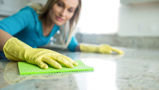 Tile Countertop Cleaning